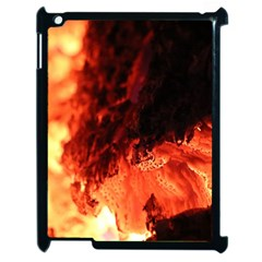 Fire Log Heat Texture Apple Ipad 2 Case (black) by Nexatart