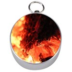 Fire Log Heat Texture Silver Compasses Front