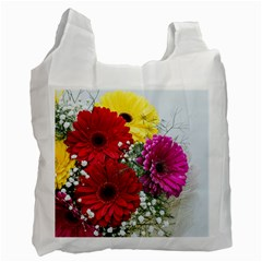 Flowers Gerbera Floral Spring Recycle Bag (one Side) by Nexatart