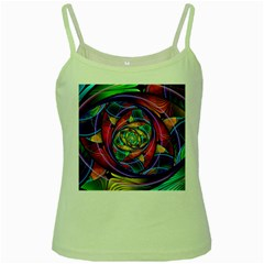 Eye Of The Rainbow Green Spaghetti Tank