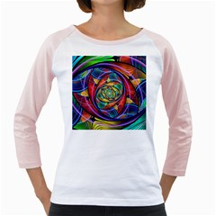 Eye Of The Rainbow Girly Raglans