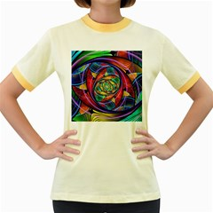 Eye Of The Rainbow Women s Fitted Ringer T Shirts
