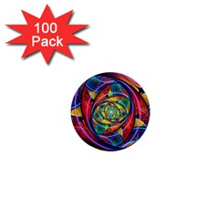Eye Of The Rainbow 1  Mini Magnets (100 Pack)