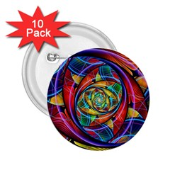 Eye Of The Rainbow 2 25  Buttons (10 Pack)
