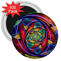 Eye Of The Rainbow 3  Magnets (100 Pack)
