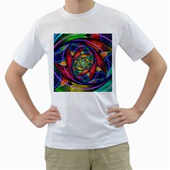 Eye Of The Rainbow Men s T Shirt (white) (two Sided)