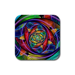 Eye Of The Rainbow Rubber Square Coaster (4 Pack)