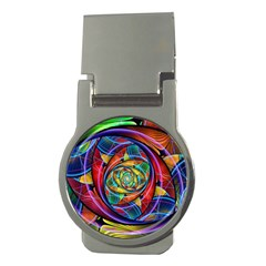 Eye Of The Rainbow Money Clips (round)