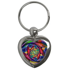Eye Of The Rainbow Key Chains (heart)
