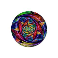 Eye Of The Rainbow Rubber Coaster (round)