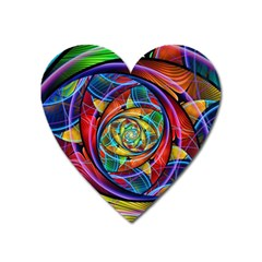 Eye Of The Rainbow Heart Magnet by WolfepawFractals
