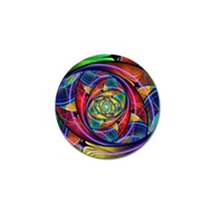 Eye Of The Rainbow Golf Ball Marker