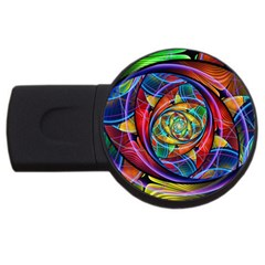Eye Of The Rainbow Usb Flash Drive Round (2 Gb) by WolfepawFractals