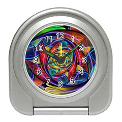 Eye Of The Rainbow Travel Alarm Clocks