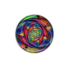 Eye Of The Rainbow Hat Clip Ball Marker by WolfepawFractals