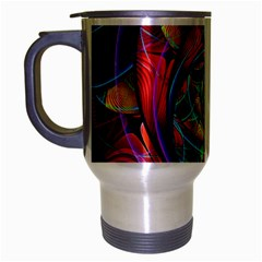 Eye Of The Rainbow Travel Mug (silver Gray)