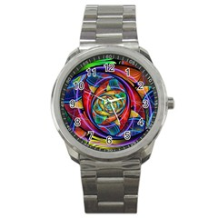 Eye Of The Rainbow Sport Metal Watch