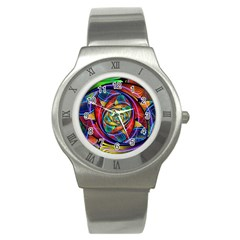 Eye Of The Rainbow Stainless Steel Watch