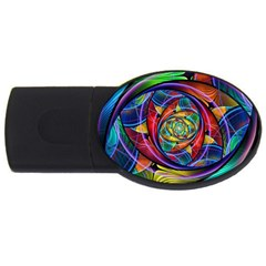 Eye Of The Rainbow Usb Flash Drive Oval (4 Gb)