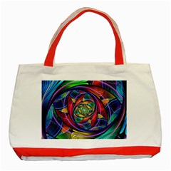 Eye Of The Rainbow Classic Tote Bag (red)