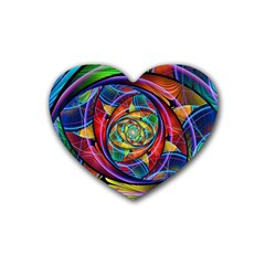 Eye Of The Rainbow Heart Coaster (4 Pack)