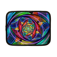 Eye Of The Rainbow Netbook Case (small)  by WolfepawFractals