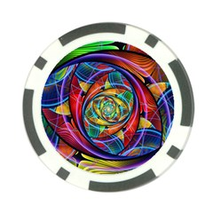 Eye Of The Rainbow Poker Chip Card Guard (10 Pack)