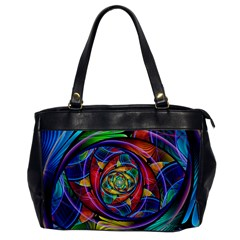 Eye Of The Rainbow Office Handbags by WolfepawFractals