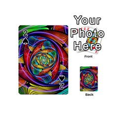 Eye Of The Rainbow Playing Cards 54 (mini)  by WolfepawFractals