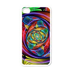 Eye Of The Rainbow Apple Iphone 4 Case (white)