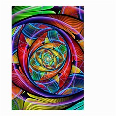 Eye Of The Rainbow Small Garden Flag (two Sides) by WolfepawFractals