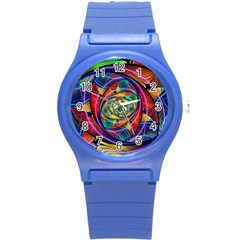 Eye Of The Rainbow Round Plastic Sport Watch (s)