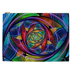 Eye Of The Rainbow Cosmetic Bag (xxl)  by WolfepawFractals