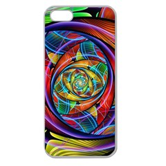 Eye Of The Rainbow Apple Seamless Iphone 5 Case (clear) by WolfepawFractals