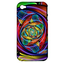 Eye Of The Rainbow Apple Iphone 4/4s Hardshell Case (pc+silicone) by WolfepawFractals