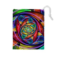 Eye Of The Rainbow Drawstring Pouches (large)