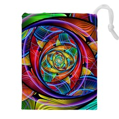 Eye Of The Rainbow Drawstring Pouches (xxl)