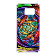 Eye Of The Rainbow Samsung Galaxy S7 Edge White Seamless Case