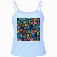 Presents Gifts Background Colorful Baby Blue Spaghetti Tank