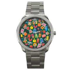 Presents Gifts Background Colorful Sport Metal Watch by Nexatart