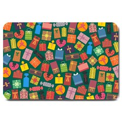 Presents Gifts Background Colorful Large Doormat