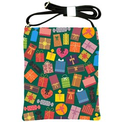 Presents Gifts Background Colorful Shoulder Sling Bags by Nexatart