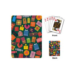 Presents Gifts Background Colorful Playing Cards (mini)  by Nexatart