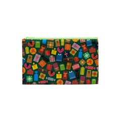 Presents Gifts Background Colorful Cosmetic Bag (xs) by Nexatart