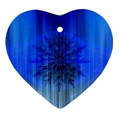 Background Christmas Star Ornament (heart) by Nexatart