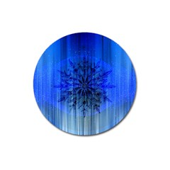 Background Christmas Star Magnet 3  (round) by Nexatart