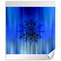 Background Christmas Star Canvas 8  X 10  by Nexatart