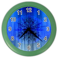 Background Christmas Star Color Wall Clocks by Nexatart