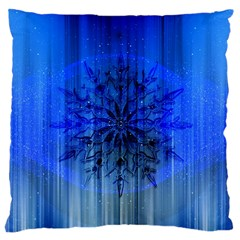 Background Christmas Star Large Cushion Case (two Sides) by Nexatart