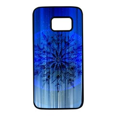 Background Christmas Star Samsung Galaxy S7 Black Seamless Case by Nexatart